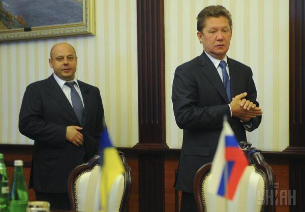 Министр топлива и энергетики Украины Юрий Продан и председатель правления ОАО «Газпром» Алексей Миллер