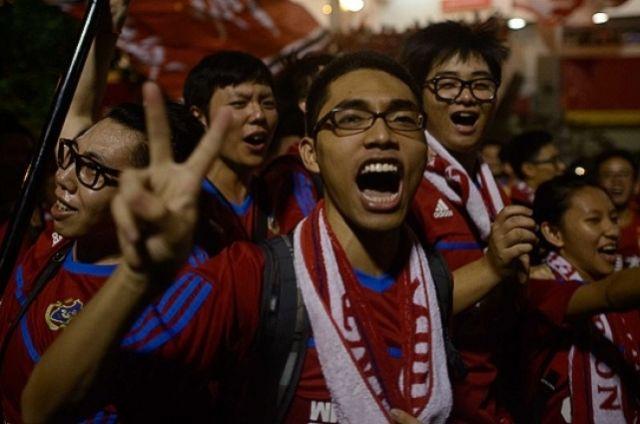 Футбольные болельщики, Китай