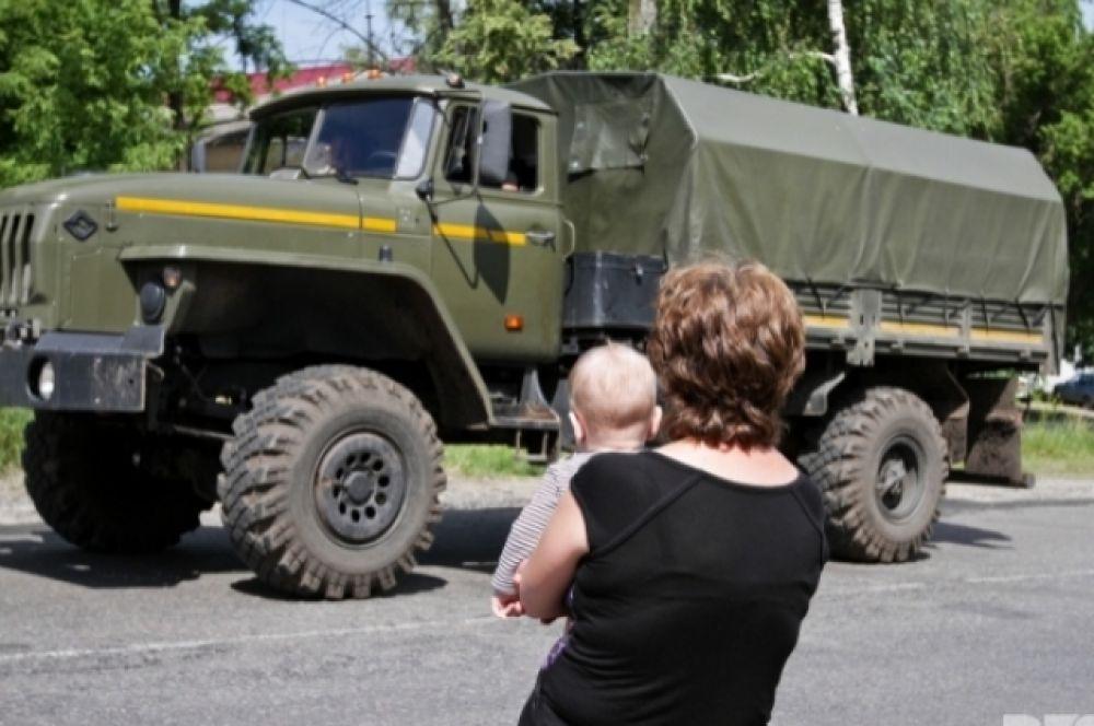 Беженцы из Славянска и Краматорска покидают зону АТО
