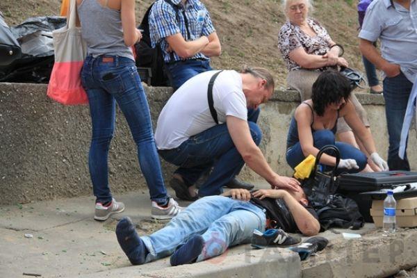 В результате потасовки пострадал один активист Евромайдана