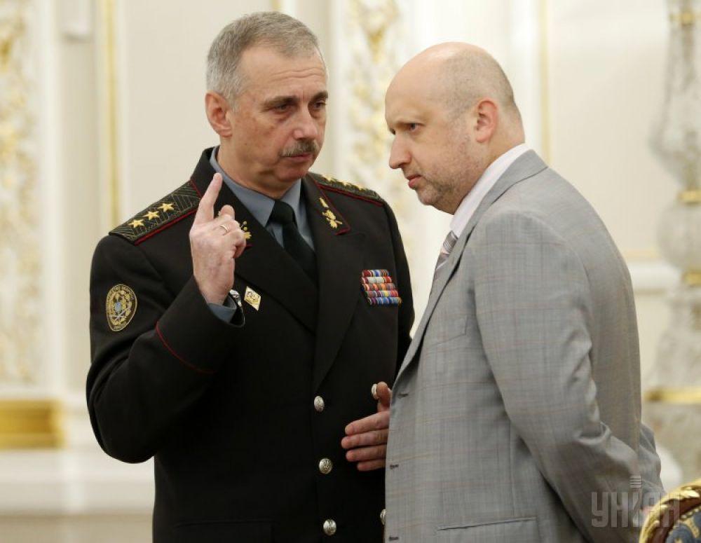 Михаил Коваль и Александр Турчинов