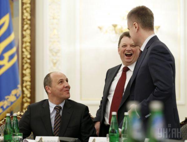 Андрей Парубий, Виктор Гвоздь и Валентин Наливайченко