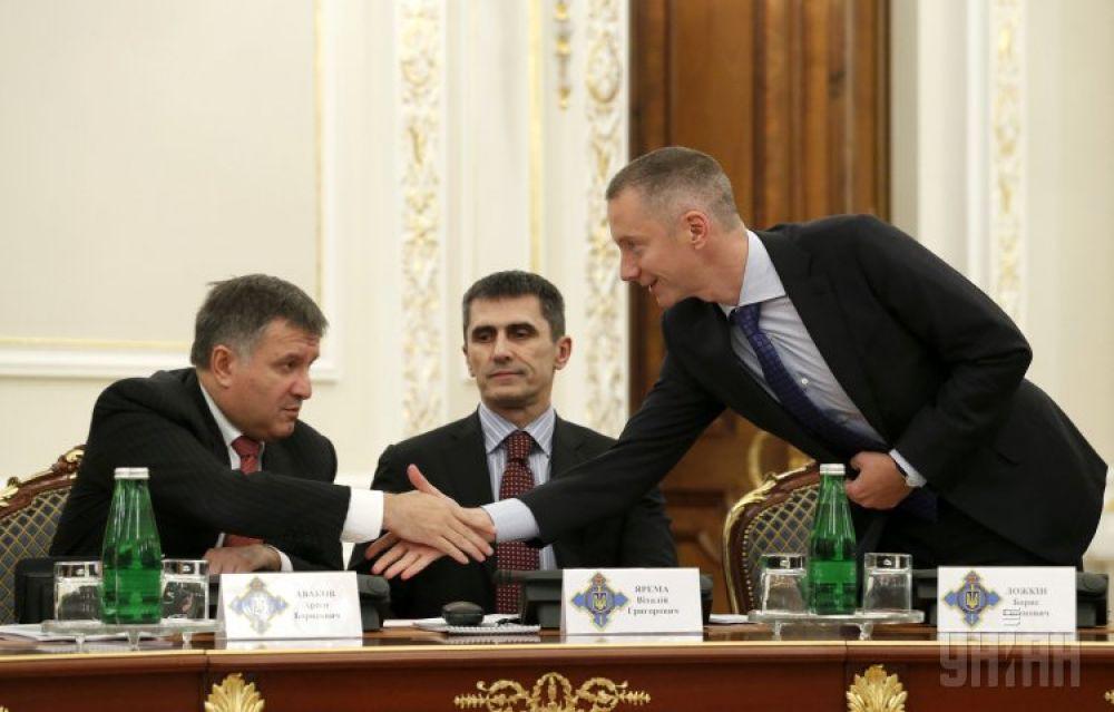Арсен Аваков, Виталий Ярема и Борис Ложкин