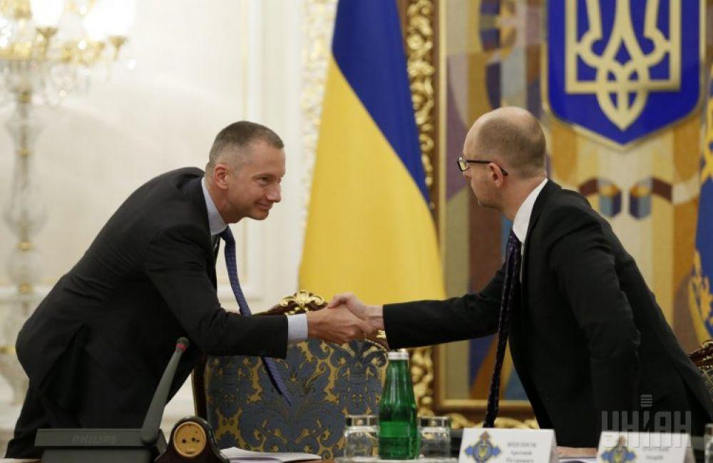 Борис Ложкин и Арсений Яценюк