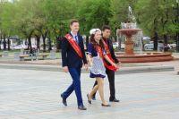 Хабаровские выпускники отмечают последний звонок