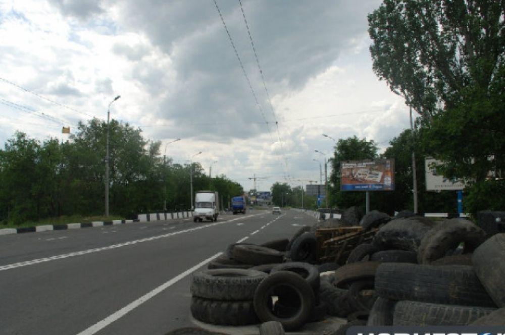 Дорога в аэропорт Донецка
