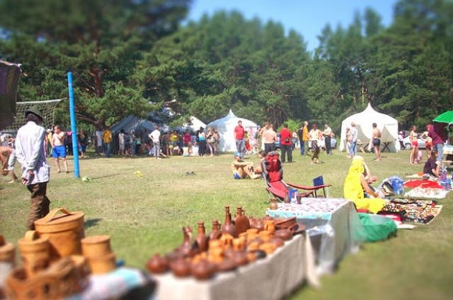На фестиваль приезжает много гостей.