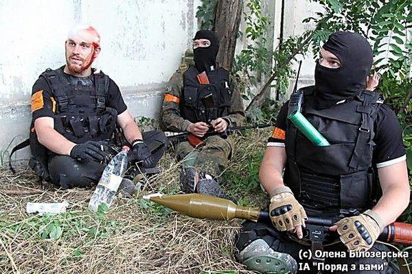 Боевики в Красном Лимане