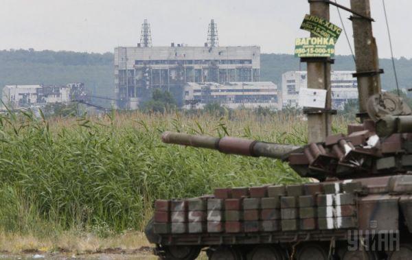 Танк сил АТО возле Славянска