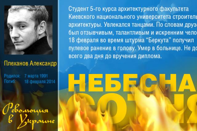 Саша Плеханов - Герой Небесной Сотни
