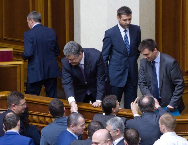 Петр Порошенко на заседании парламента