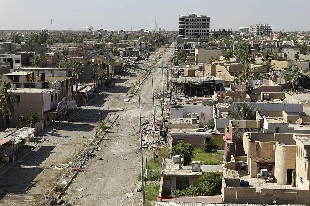 Вид на город Рамади в Ираке, июнь 2014 года.