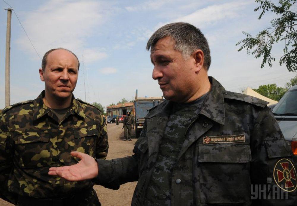 Андрей Парубий и Арсен Аваков