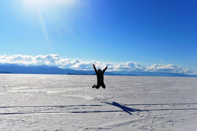 На байкальском льду