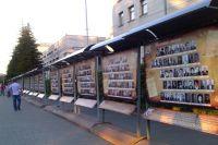 На 22 стендах разметились портреты иркутских участников ВОВ.