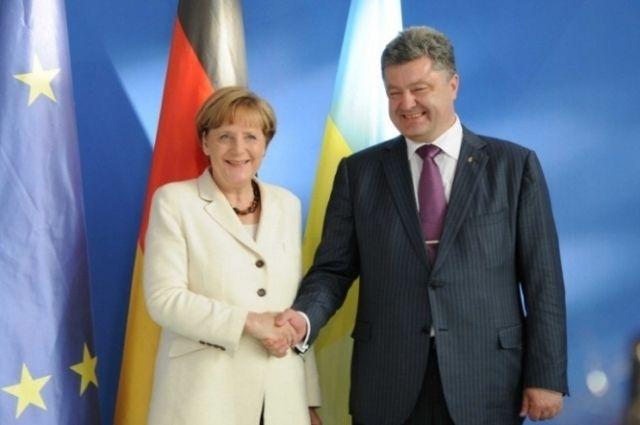 Ангела Меркель, Петр Порошенко