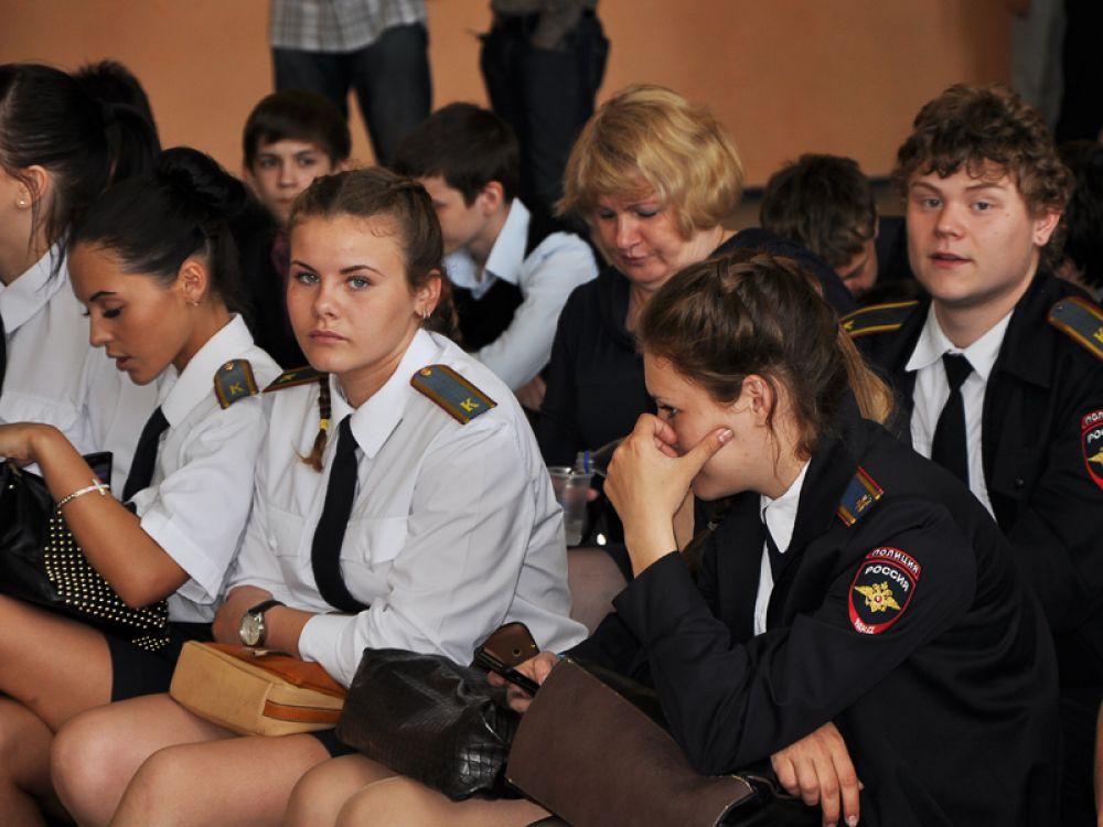 Фестиваль собрал воспитанников полицейских классов.