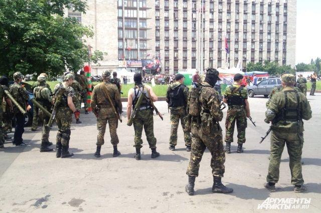 Возле Донецкой ОГА