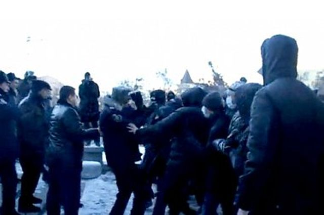 Нападение на участников Майдана в Днепропетровске в январе