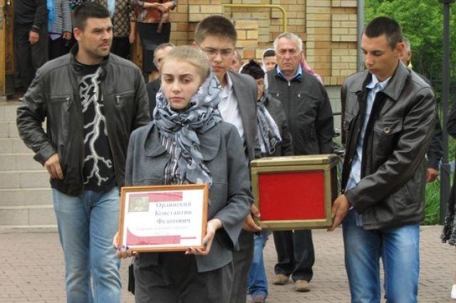 В Омской области прошло захоронение солдата Победы.