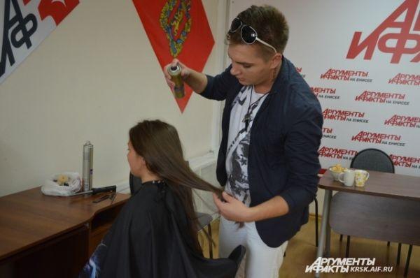 Подготавливаем волосы – обрабатываем лаком.