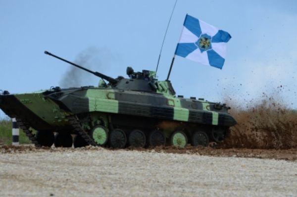 Экипаж боевой машины БМД-4М Южного военного круга.