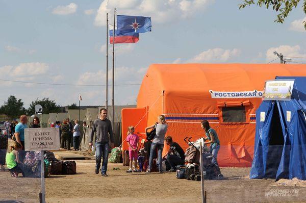 Палаточный лагерь города Донецка (Россия) рассчитан на 500 человек.