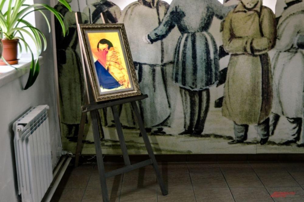 «Электронный» мольберт пролистывает портреты декабристов.