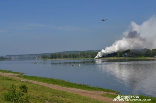 Войска Северной Федерации двинулись в наступление - река не помешала.