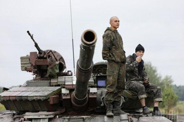 Блокпост сил АТО под Славянском