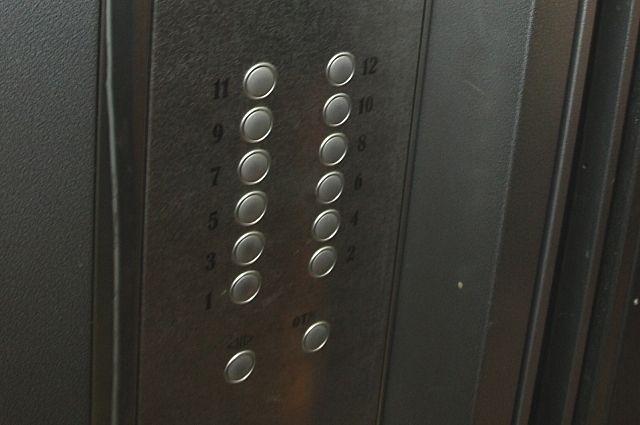 Кнопки лифта.