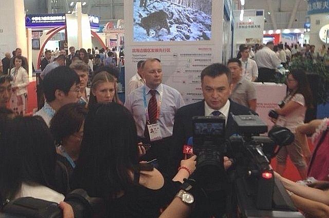 Владимир Миклушевский на Первом Российско-Китайском ЭКСПО в Харбине.