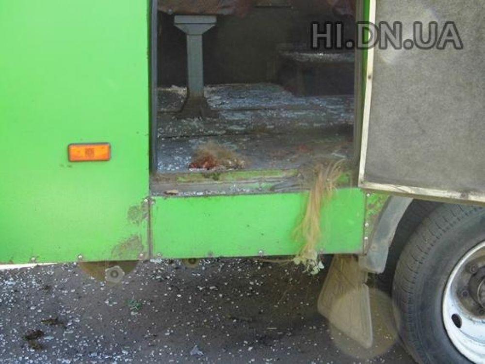 Обстрел маршрутного автобуса в Краматорске