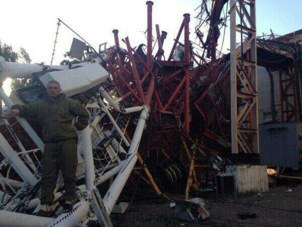 На горе Карачун рухнула телевышка