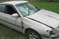 Иномарка, участвовшая в ДТП, была спрятана под ветками в лесополосе.