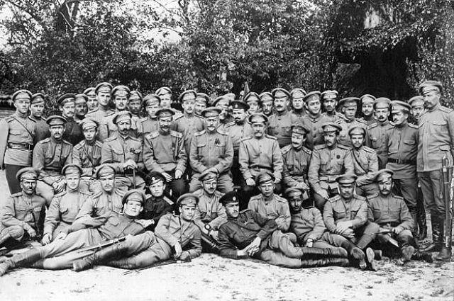 Солдаты первой мировой войны.