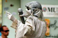 Живые статую популярны в зарубежных странах.