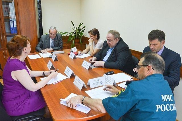 Совещание под руководством директора краевого департамента гражданской защиты.
