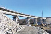 Строительство моста в Якутии.