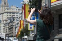 Туристка в Мадриде