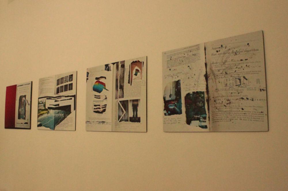 Серия коллажей Маши Ру, навеянные написанием математической работы.