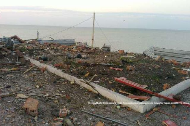 АТО на берегу Азовского моря