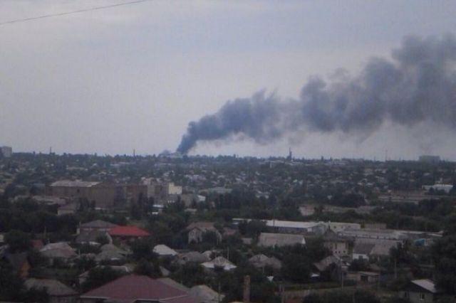 Пожар, Городок завода ОР, Луганск
