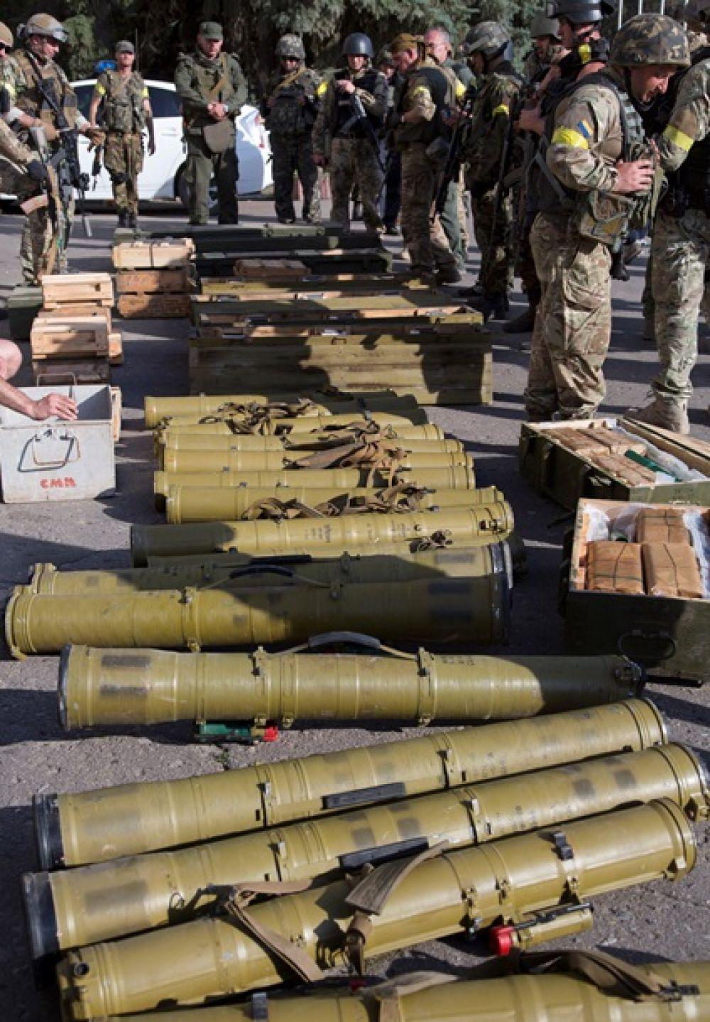 Военнослужащие нашли боеприпасы боевиков