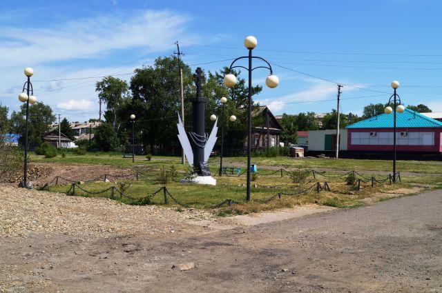 Одна из улиц села Троицкого
