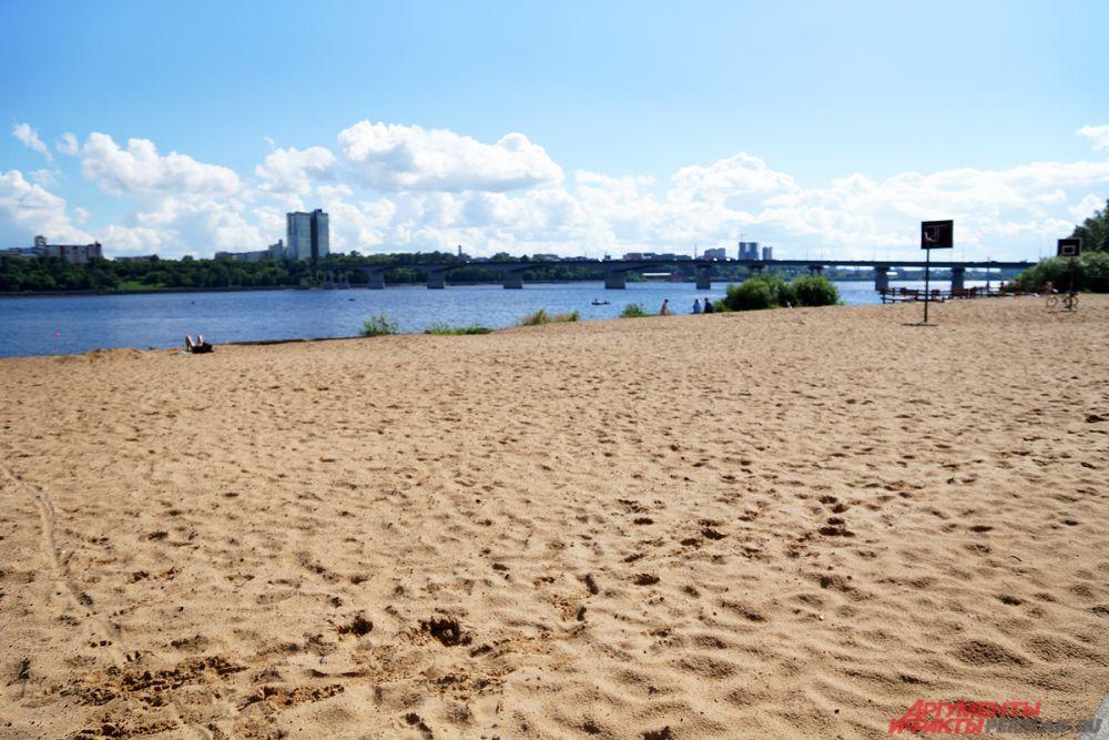 Пермские пляжи продолжают пустовать из-за дождей и гроз.