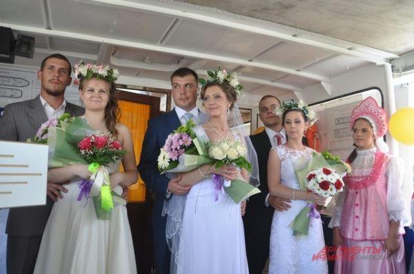 Регистрация брака на теплоходе.