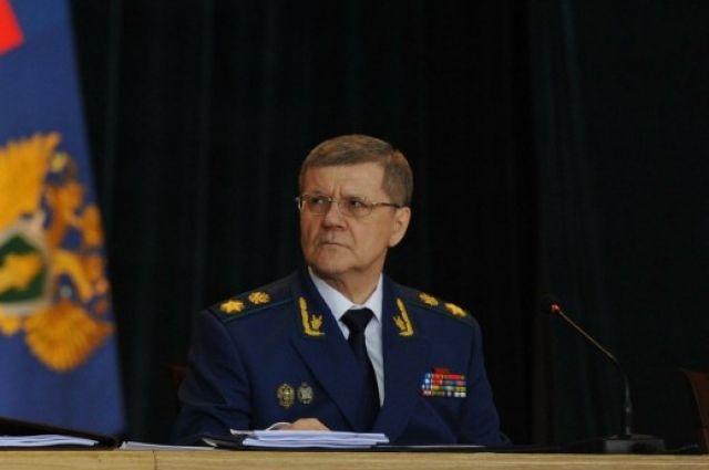 Генеральный прокурор РФ Юрий Яковлевич Чайка.