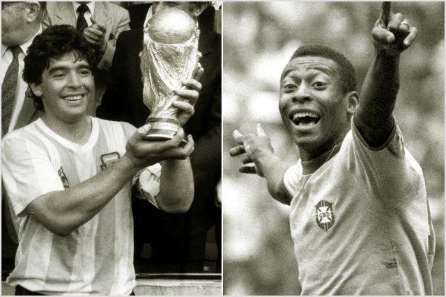 Марадона становился чемпионом мира в 1986 году. Пеле — в 1958, 1962 и 1970 годах.