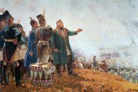 Репродукция картины «М. И. Кутузов на Бородинском поле» работы художника Сергея Васильевича Герасимова.